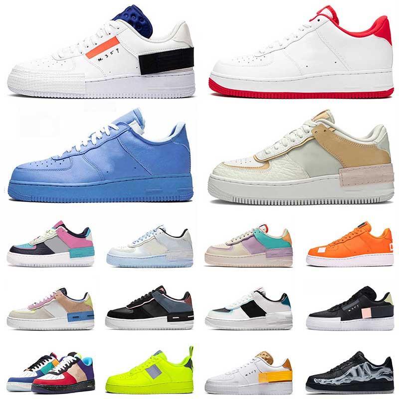 Nike Air Force 1 Einmalig MCA 2021 Typ N354 Herren Damen Skateschuhe Shadow Skeleton Outdoors N.354 Trainer Silk Sports Sneakers