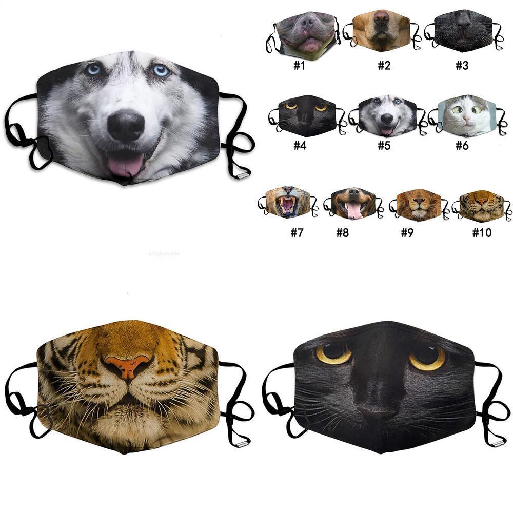 Yetişkin Hayvan Baskı Komik Rüzgar Geçirmez Yüz Maskesi Toz Geçirmez Maske Pamuk Evrensel PM2.5 Maskeleri Yıkanabilir Kullanımlık Yüz Tasarımcı Maske 9 Stilleri
