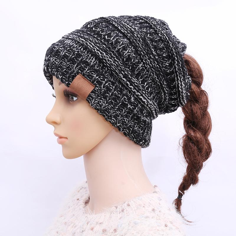 New With Label Wool Knitted Warm Soft Trendy Winter Hats Women Wool Casual Caps Elegant All-Match Beanie 13 Color