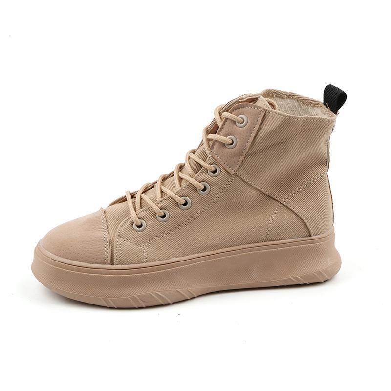 Yeddamavis mujeres botas zapatos de mujer zapatillas de deporte nuevo coreano zapatos de lona superior de alta coreano grueso fondo de fondo para mujer botas de mujer