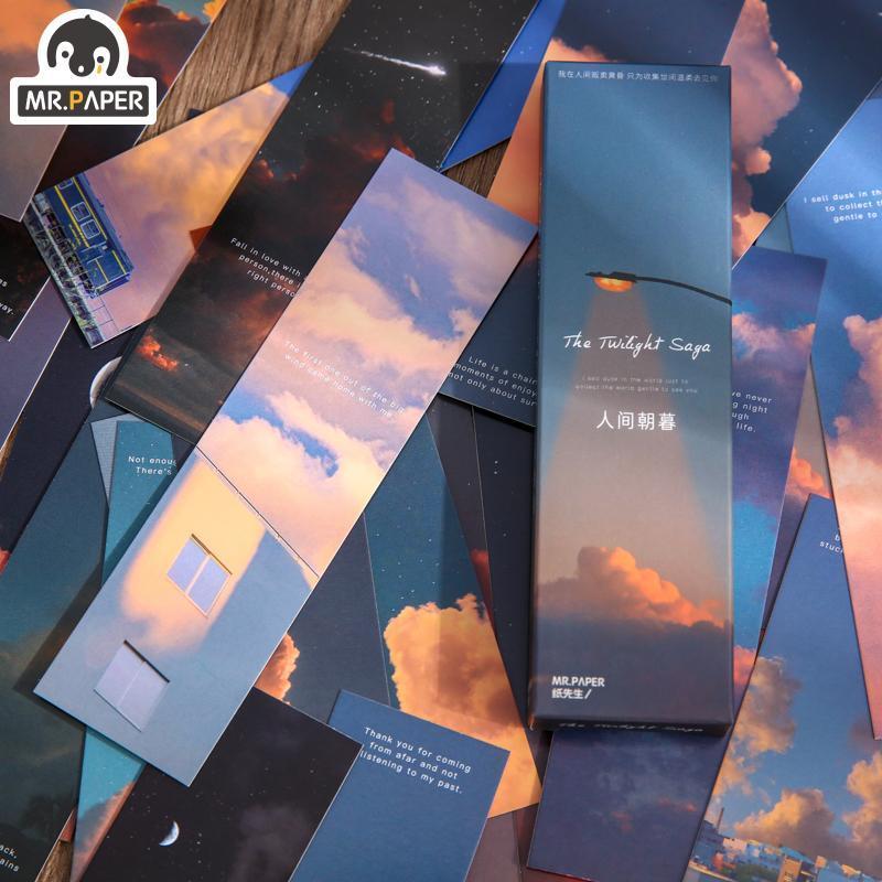 M. Pape 4 Designs 30 pcs / sacs Style Série Chaud Série Creative Creative Main Compte DIY Decor Signets Papeterie Étudiante Fournitures de bureau
