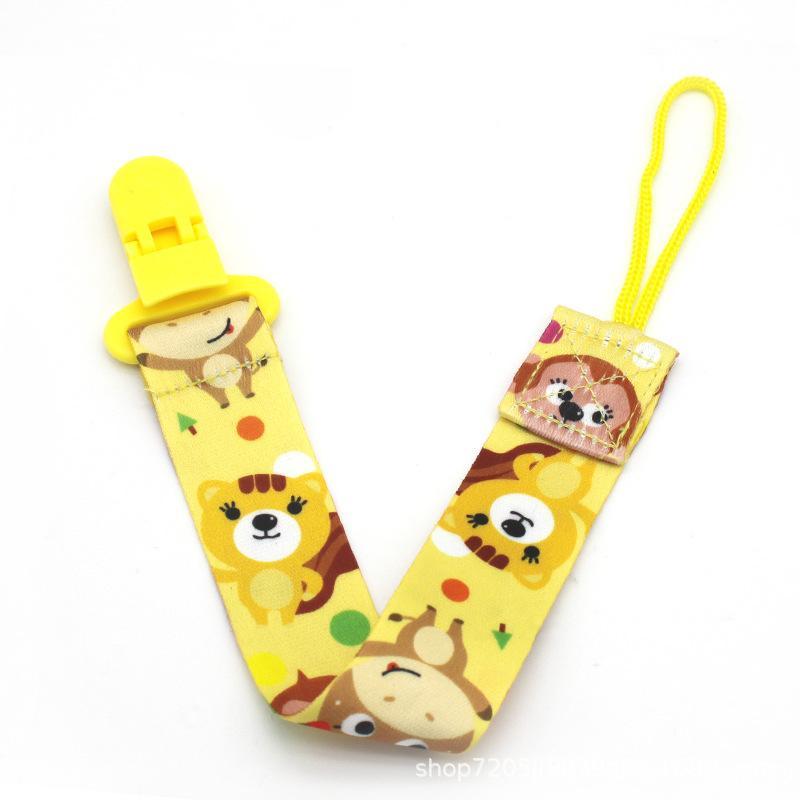 Bebek diş kaşıyıcı emzik klip zinciri polyester klip emzik tutucu örgülü klip meme tutucu bebek bebek besleme emzik zinciri GWF3740