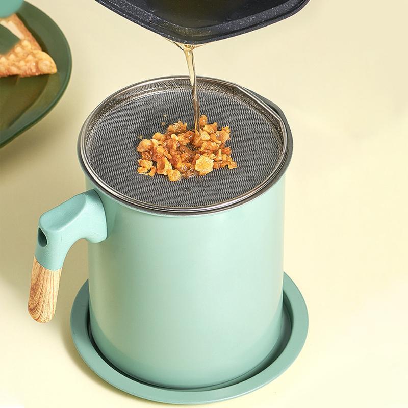 Depolama Şişe kavanoz pişirme için ergonomik kolu İşlevli toz geçirmez gres süzgeci taşınabilir pastırma yağ filtresi pot ev mutfak stai
