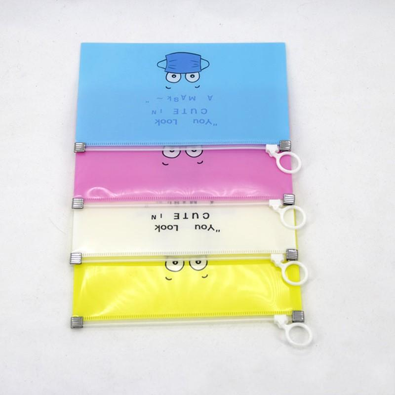 Storage Clip Mask Bag Masks Case Face Holder Square With Zipper Plastic Yellow Blue White Cartoon Cute Waterproof Dustproof 1 5lh F2