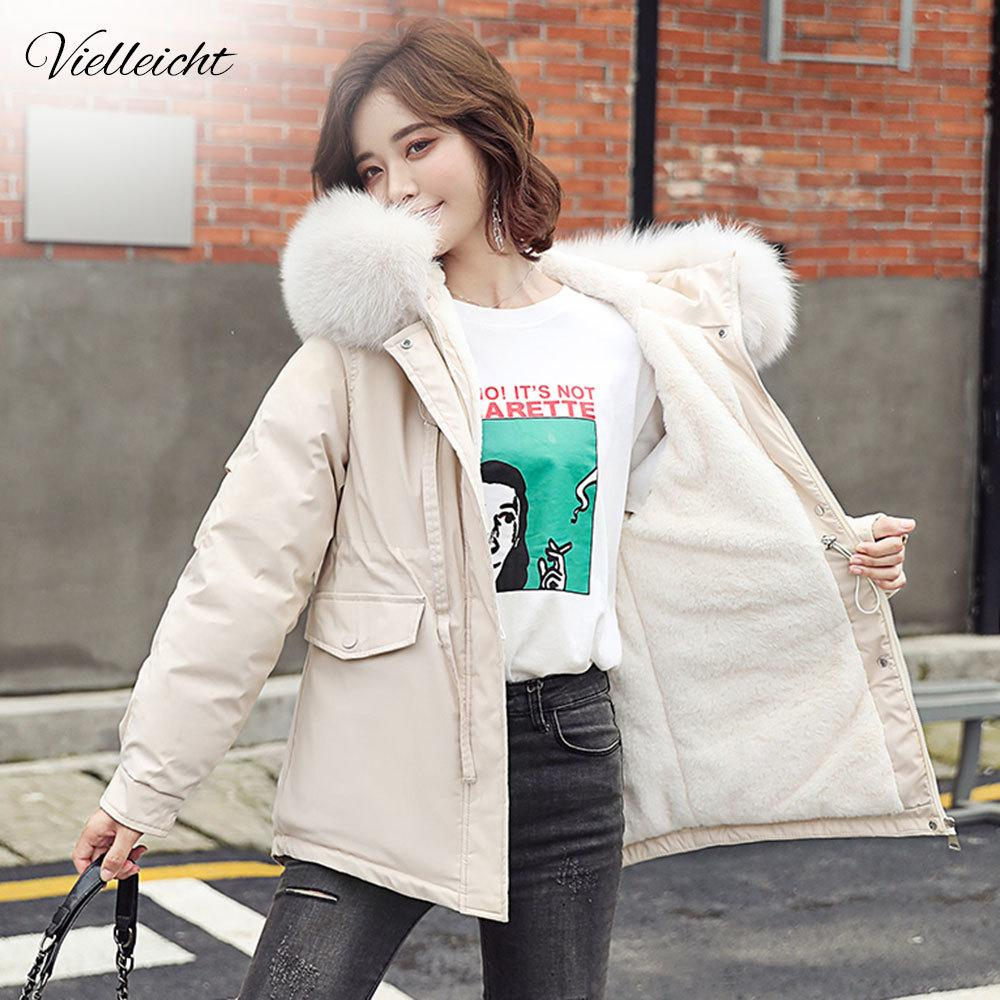 Vielleicht Winter Coat Women Fashion Winter Jacket Women Cotton Padded Parka Short Outwear Hooded 5 Colors Female Jacket 210203