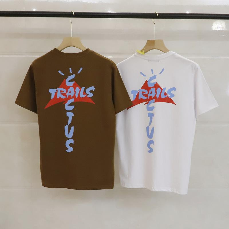 T-shirt da uomo T-shirt Cactus Jack T Shirt da uomo Summer Fashion Stampato manica corta Shirts Associazione Tee