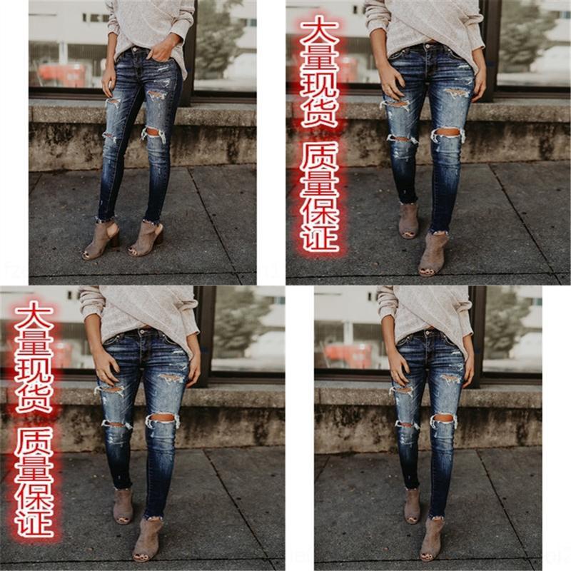 0W2F HOMME JEANS HOP PANTALES HIP Automne Imprimé Fit Jeans Slim Male Mask Mode Design Jeans Club Slim