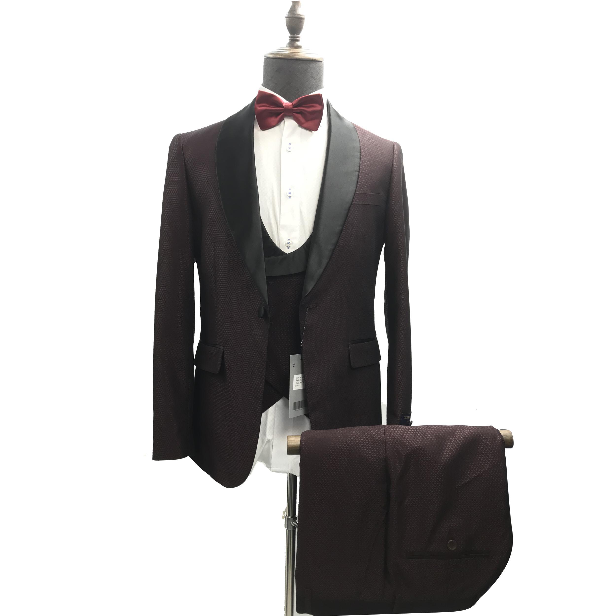 Giorgiosantini Mens Mariage 2019 Design italien Custom Custom Fabrication Bleu Fumeurs Tuxedo Veste 3 Pièce Groom Terno Converses pour hommes