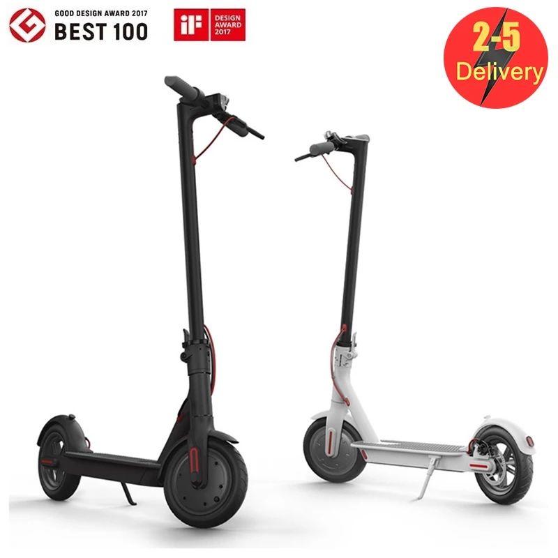 Nessuna tassa UE / Stati Uniti Stock Scooter elettrico pieghevole con 8,5 pollici Scooter per bicicletta da 8,5 pollici 3-5 giorni Consegna 7.8Ah 250W App Control App Control MK083