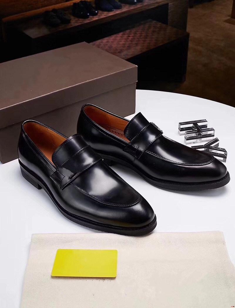 Designer da 18SS Designer uomo in pelle scarpe in vera pelle Oxford scarpe per uomo vestito scarpe slip slip slip in pelle da sposa brogues