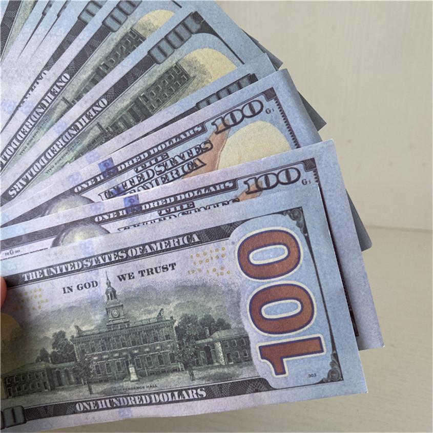 Американские оптовые кусочки / пакет 100-3 реквизиты Бесплатные бумажные бар валюты 100 долларов деньги дефко атмосфера реквизиты бумаги судоходства JPDFJ