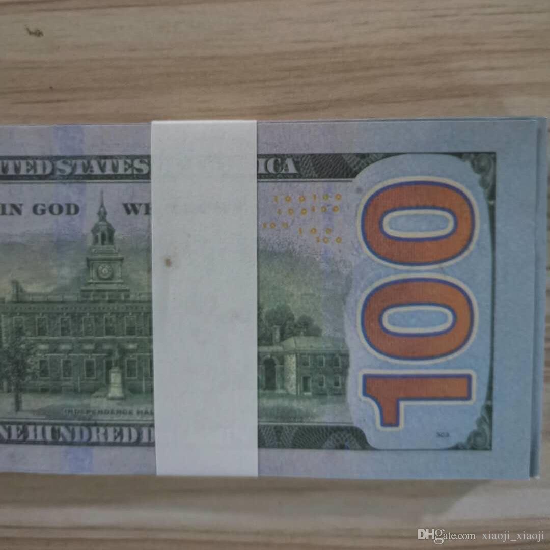 Fausse papier pour de l'argent Copie prétendant des factures de papier d'argent Billets Banknote Popier argent Dollar New100 100pcs / Pack Collection 01 Grossiste Culld