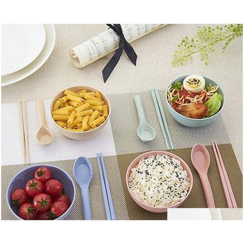2017 novas tigelas criativas de trigo de trigo produtos dos desenhos animados crianças arroz big tigela de mesa de frutas arco sqcird wphome