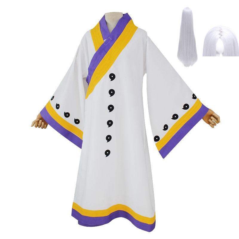 Anime Naruto Ootutuki Kaguya Cosplay Costume White Cloak Halloween Party Game Cosplay Costume