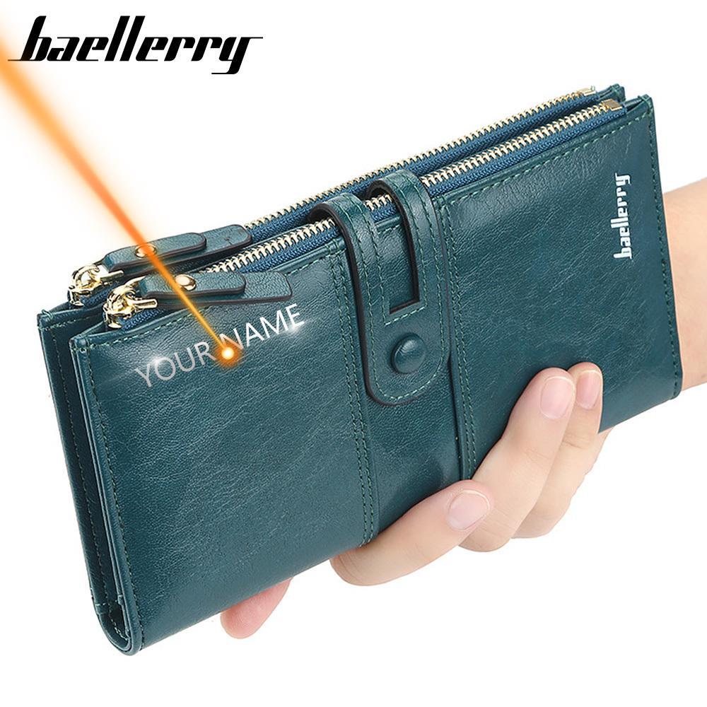 2020 Nom Gravez Femmes Portefeuilles Mode longue en cuir Porte-cartes Top qualité classique Femme bourse Zipper Marque Portefeuille pour les femmes C1115