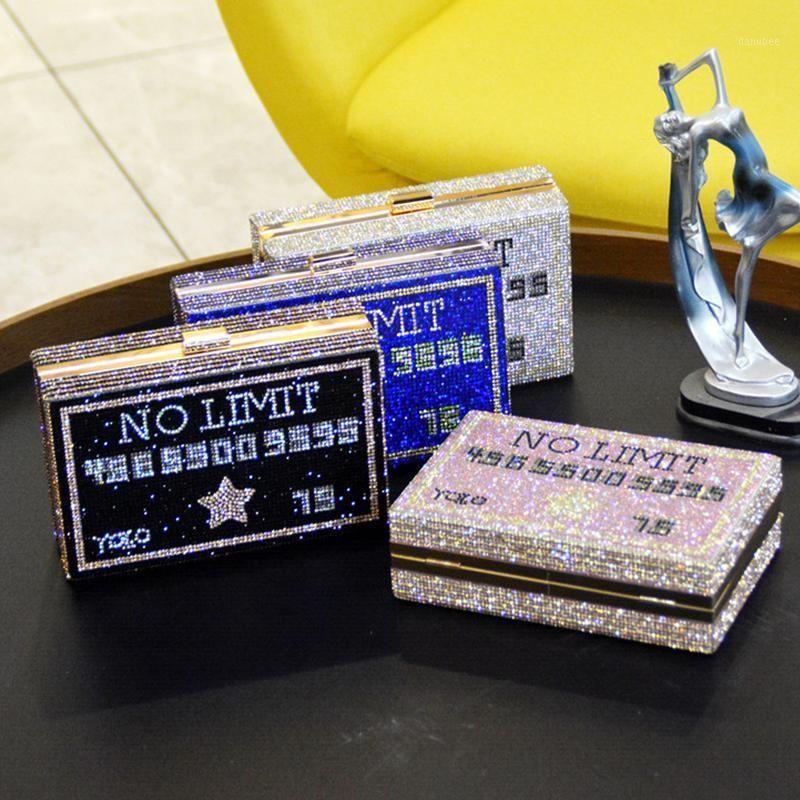 Abendtaschen Ankunft Mehrfarbig 4 Farbe Kristall Geldbörse Frauen Diamant Messenger Clutch Bag Fashion Weibliche Party Mini Handtaschen1