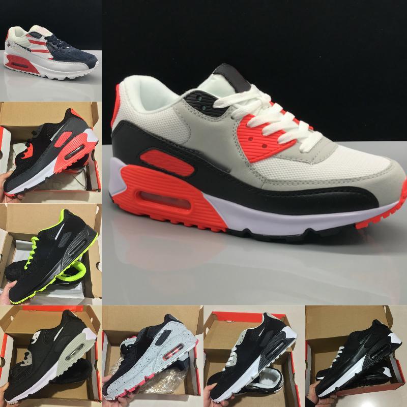 nike air max 90 shoes new airmax 90 New Air Cushion 90 Zapatillas para correr Hombres baratos Mujeres Negro Blanco Beige Air90 Zapatillas Clásicas 90s Diseñador Zapatillas