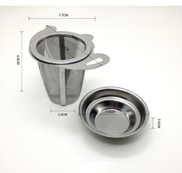 Tea Mesh Metal Infusor Infusor Copo de Aço Inoxidável Filtro de Folha de Filtro Com Tampa Nova Acessórios de Cozinha Infusores de Chá PPD3239
