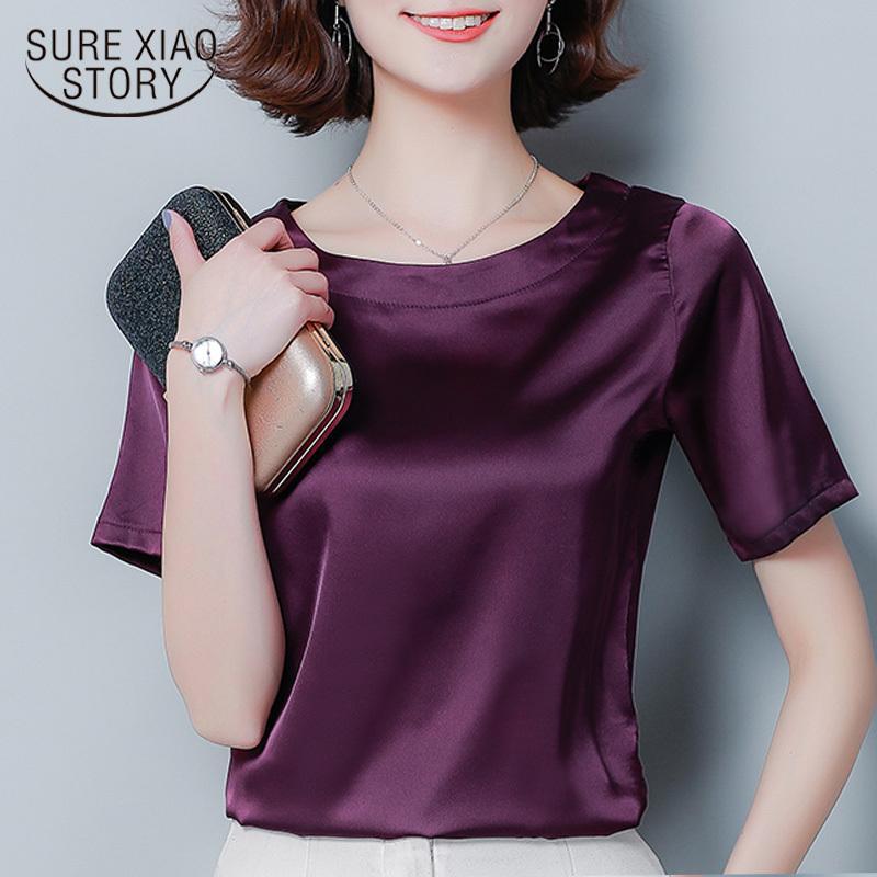 Kadın Yaz Bluzlar Kısa Kollu Şifon Bluz Yeşil Gömlek Artı Boyutu Bayan Tops ve Bluzlar Tops Bayan Giyim 3743 50 A1112
