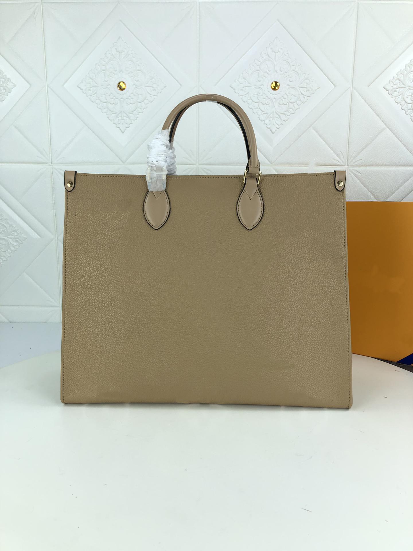 M45494 OnThego mm supple grade de couro de couro impresso em relevo logo senhora moda top handbag bolsa bolsa de ombro sacos de compras