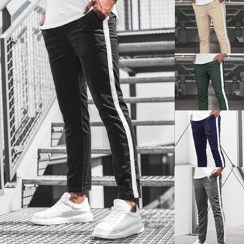 Kış Yeni Spor Eğlence Spor Pantolon Koşu Eğitim Pantolon Yatay Bar Scrunching Trend Zayıflama Pantolon Erkekler Streetwear