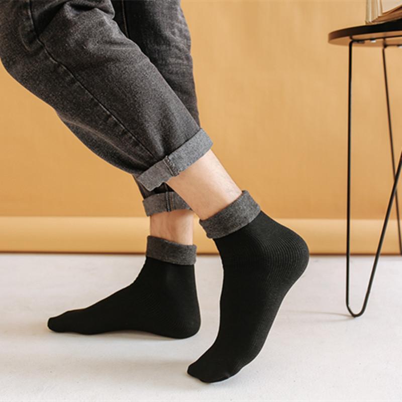 Moda Autunno e inverno Adulto Adulto Calda Medio Medio Medio Calzini ad ispessimento Uomini e donne Solid Color Socks uomo