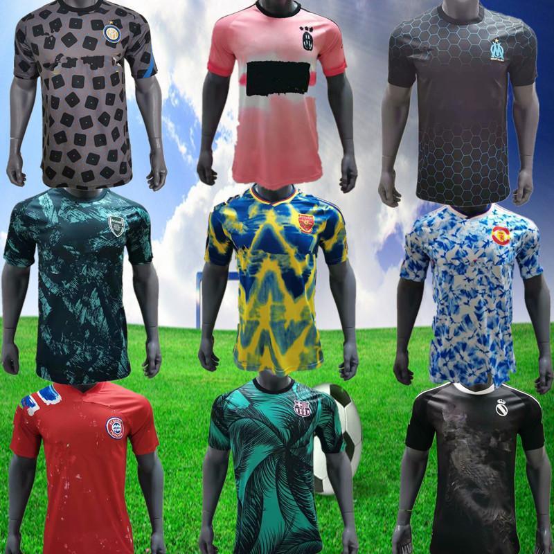 2021 new top club league training clothes 2021 men's football fitness Sweatshirt family wear