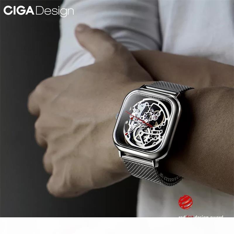 Original Xiaomi Youpin Ciga Design Watch Montre mécanique Creusée automatique Montres mécaniques Mâle Cyx-C7 3002455