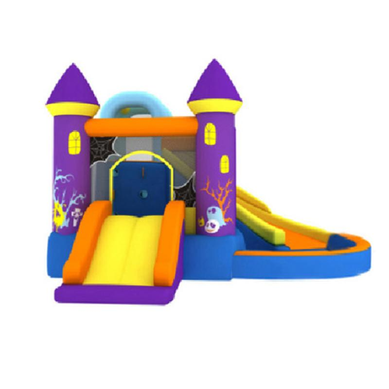 Inflatable Commercial Water Slides Bouncer for Kids Ball Hole Water Pool House Small Bouncy Castle Jumper Jump with Ball Pit Fun in Garden