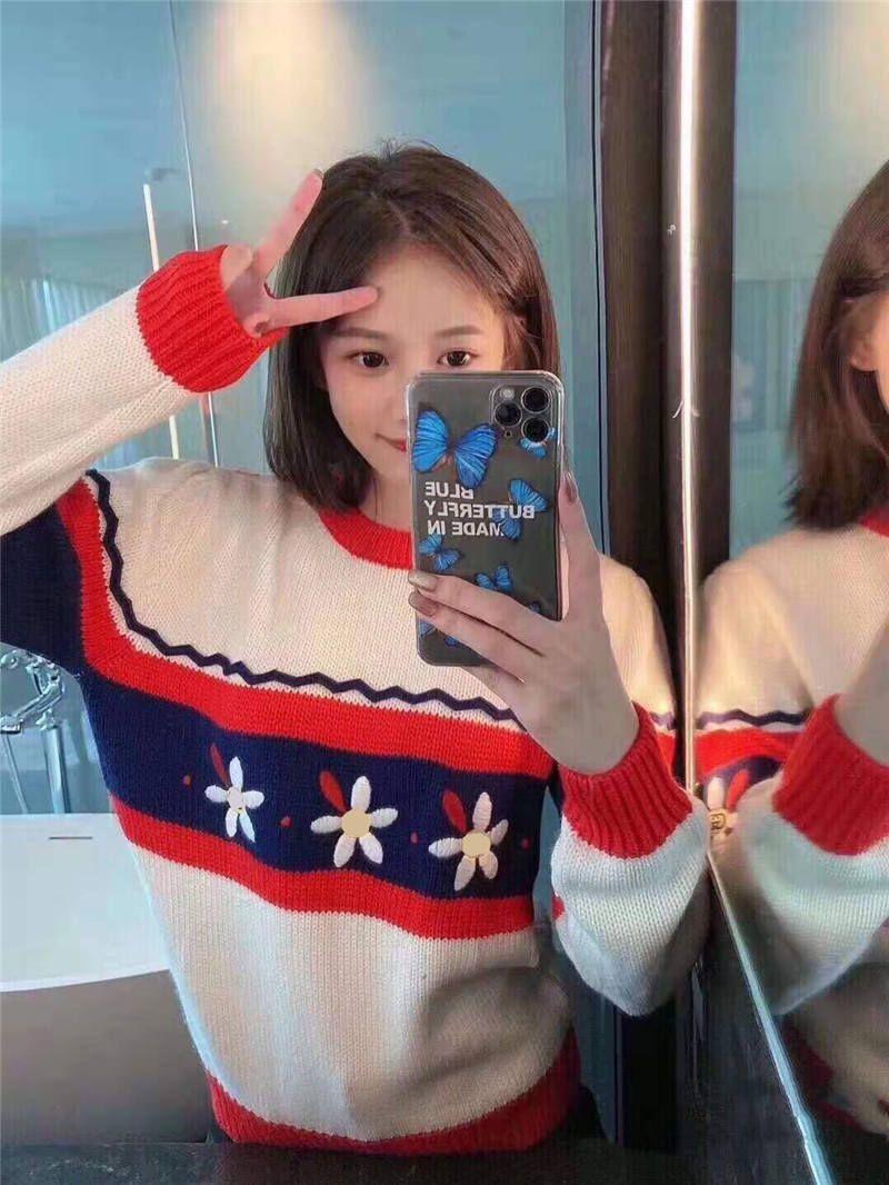 Women Sweater Wool Quantity Winter Outwear Lady Sweatshirts Fashion Style Tops Embroidery Sweaters Free Size