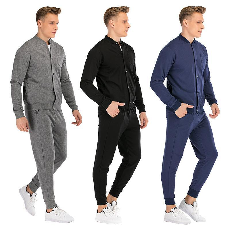 Erkek Eşofman Yakışıklı Genç Erkek Hırka Ceket Tulum Takım Elbise Casual Erkek İş Giysileri