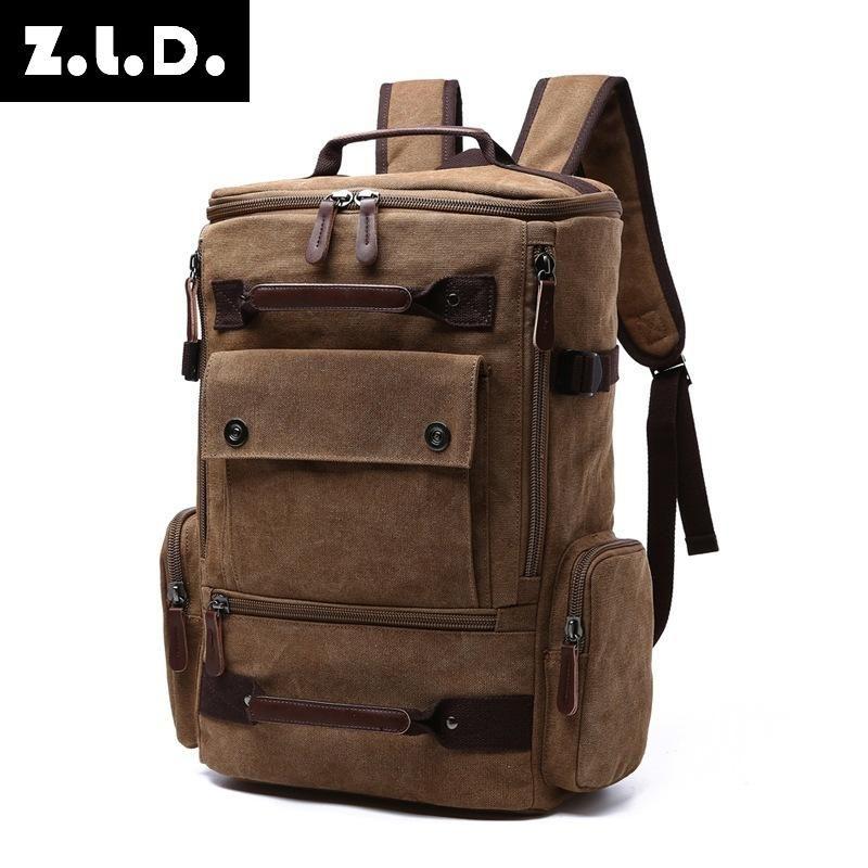 Büyük Z.l.d. Klasik kapasite dağcılık tuval erkek paketi çantası yüksek kaliteli seyahat çantası hafta sonu retro orijinal sırt çantası hjemh