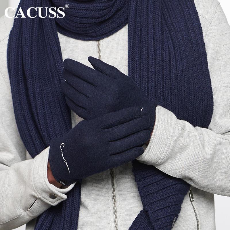 Lüks high-end tasarımcı eldivenler sonbahar ve kış örme moda yün sıcaklık erkekler ve kadınlar artı kadife sürme açık dokunmatik ekran eldiven
