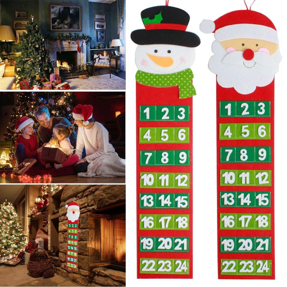 Christmas Old Hairy Man Advent Countdown Wall Calendar drop ship Q1128