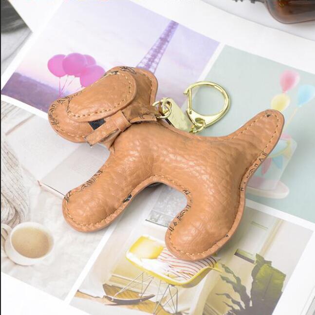 Moda oso diseñador llave hebilla bolsa coche llavero hecho a mano cuero animales llaveros hombre mujer bolso bolsa colgante accesorios 16 estilos
