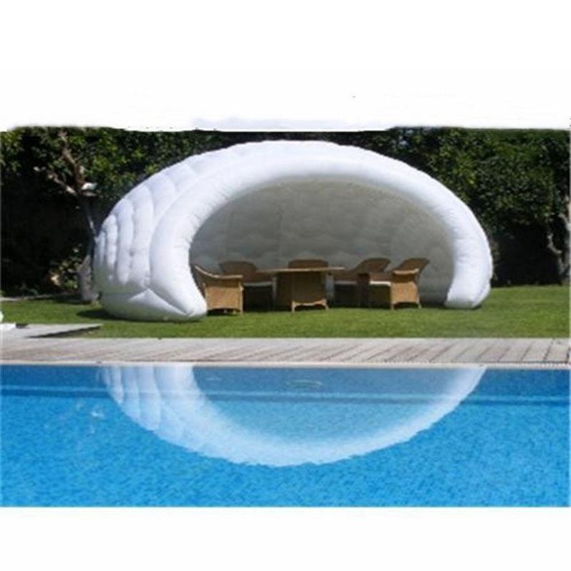 Tendas personalizadas da abóbada Tenda de acampamento inflável China tendas transparentes brancas do modelo Z1123