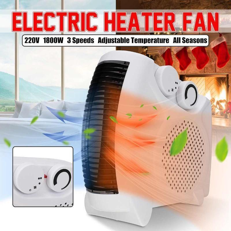 Aquecedores elétricos inteligentes 220V 1800W Aquecedor portátil 3 velocidades de aquecimento / refrigeração Modo duplo Fan Office Office Air Warmer / Friend Fans1
