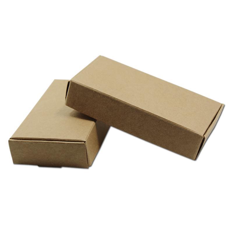 선물 포장 30pcs / lot 갈색 크래프트 종이 포장 상자 공예 보석 수제 포장 판지 사탕 스낵 카톤