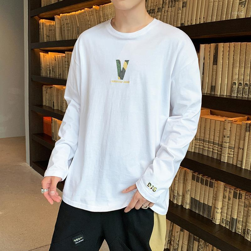 2020 Spring Summer Mens Clothing O-neck Fashion T Shirt Men Long Sleeved Solid Cotton Tshirt High Quality1