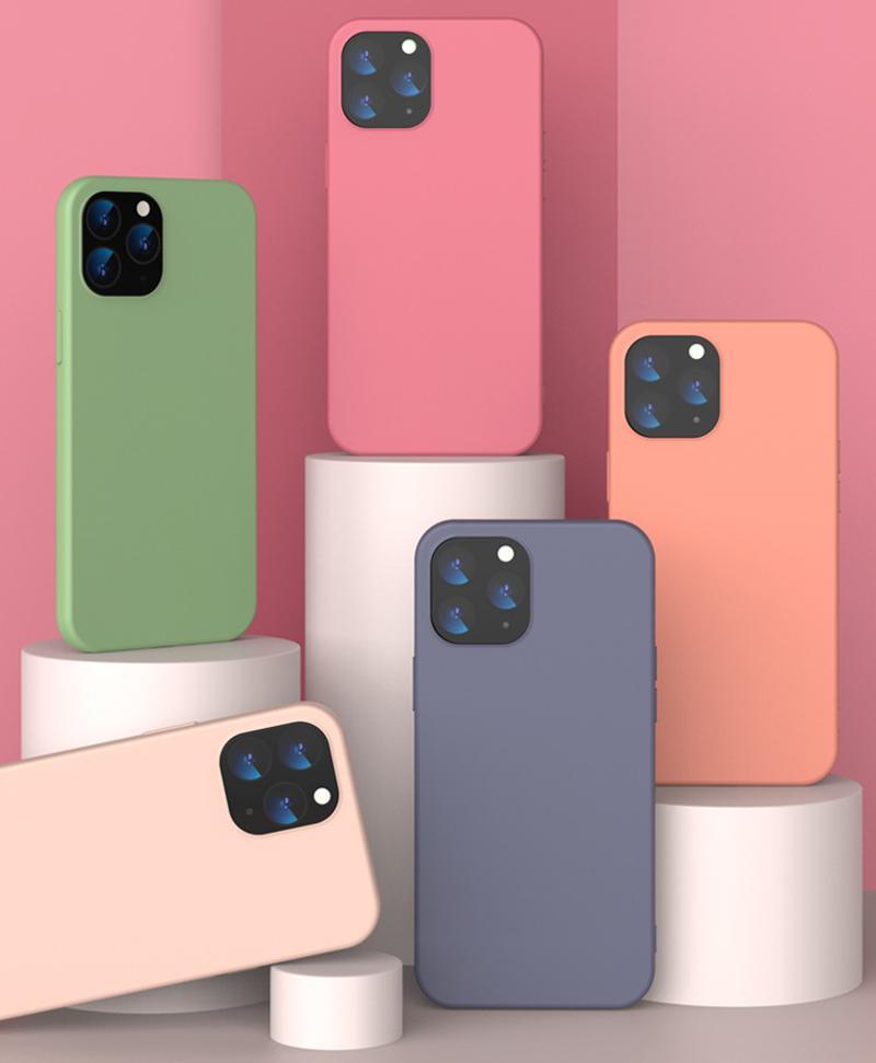 Apple 12 Cep Telefonu Kılıfı Için Yeni iPhone12 Pro Anti-Güz Koruyucu Kapak TPU İmitasyon Sıvı Silikon Max Kabuk Cep Telefonu Kılıfları