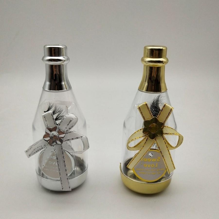 3D Mink Eyelash Package Boxes False Eyelashes Packaging Empty Eyelash Box Case Creative Drift Bottle Shaped Lashes Box Packaging