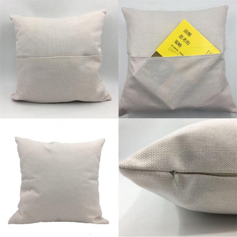 Сублимационная пустая подушка для подушки Книга карманная подушка льняная подушка крышка 30 * 30 40 * 40см домашний декор Textile Hot Sale 6 2YJ M2