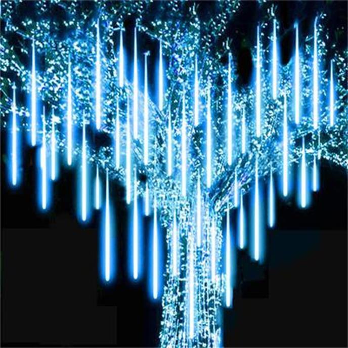 2021 A prueba de agua 30 cm 50 cm Nevadas LED Luz de tira de la Navidad de la Navidad de la ducha de la ducha de la lluvia Cadena de luz AC100-240V para la boda de la fiesta de Navidad