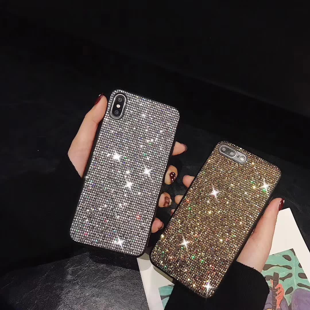 LZ8F gradient bling s10 brillant diamant téléphone téléphone pour noter10 11 pro x xs max 7 8 plus paillettes Samsunghuawei p30 pro