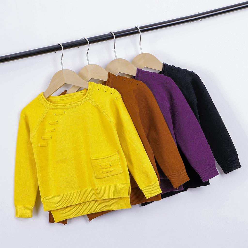 Kinder Baby Jungen Pullover Gestrickt Pullover Lässige Langarm Kinder Tops Kleinkind Jungen Kleidung Baby Mädchen Kleidung LJ201128