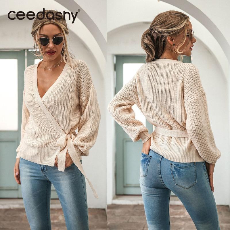 2021 крест весна v шеи сексуальный вязальный свитер свитер мода белый кардиган джемпер элегантный дизайн бежевый мягкий свитера трикотаж