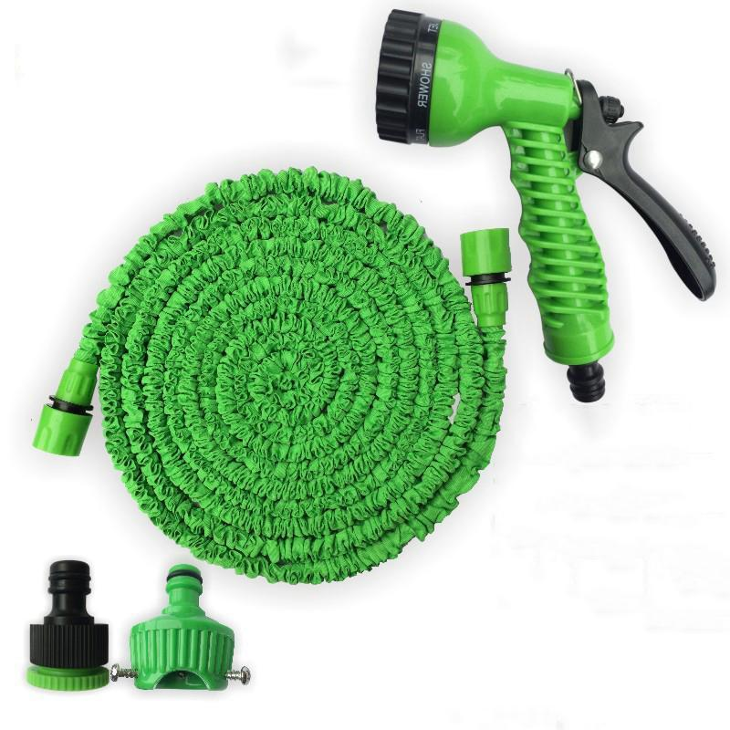 50/100/150FT Garden Hose Expandable Magic Flexible Water Hose EU Hose Plastic Watering Car Wash Spray Hoses Pipe Spray Gun FWF3037