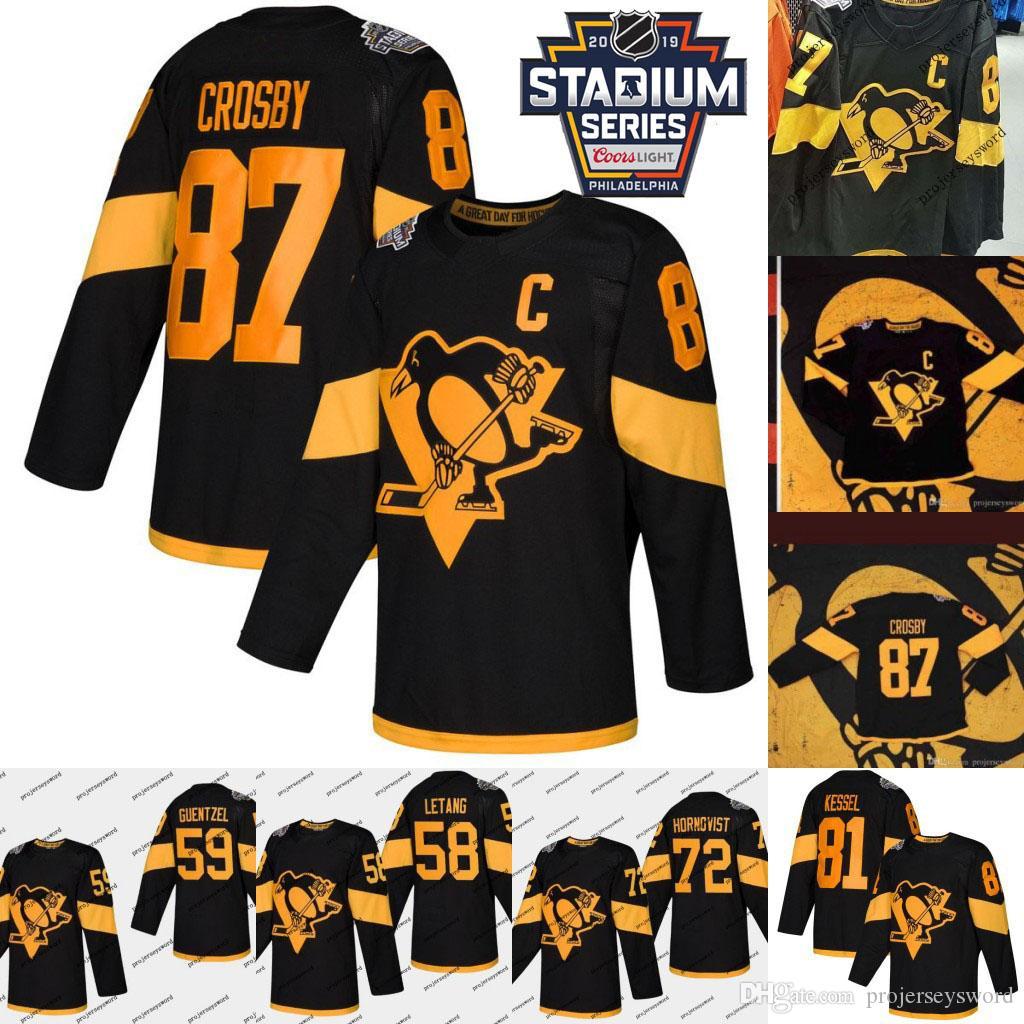 2019 Stadium Series Jersey Jake Guentzel Patric Hornqvist Phil Kessel Kris Letang Evgeni Malkin Sidney Crosby Pittsburgh Hockey Jersey