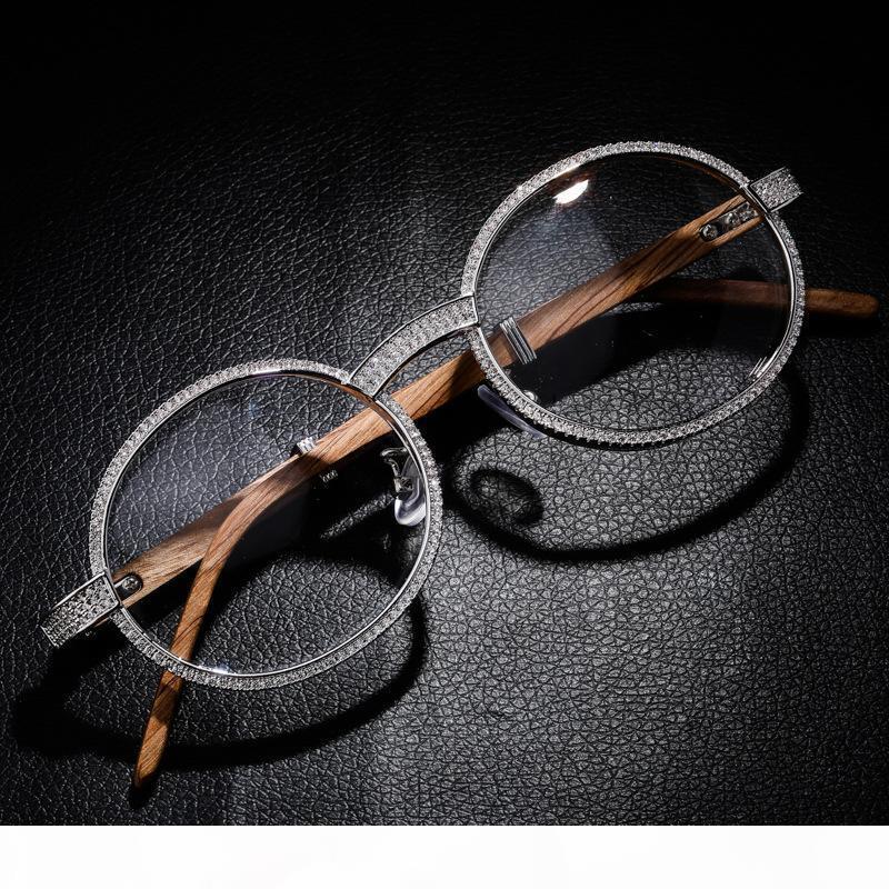 Lunettes de soleil design de luxe Glaçons de diamant lunettes Hip hop bijoux Hommes Femmes Rapper Fashion Charms Vintage Accessoires Vintage Cadeau de Noël