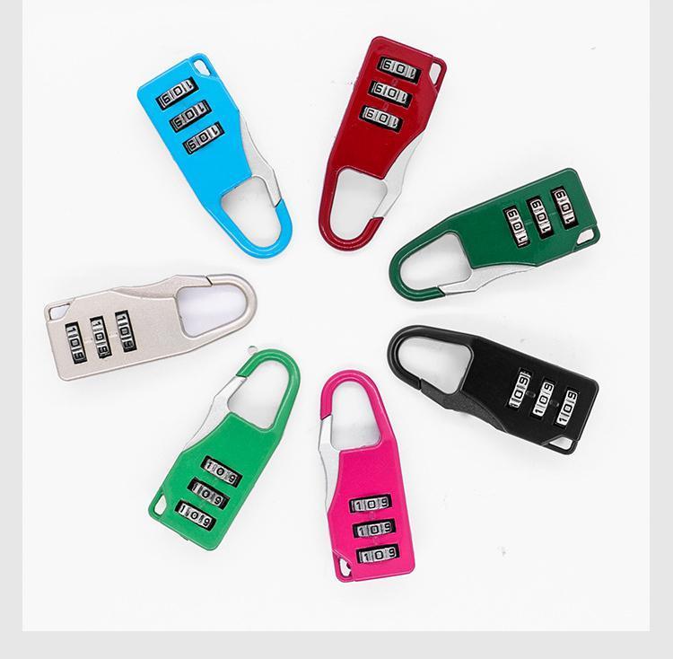 Mini-Zifferblatt-Ziffern-Lock-Nummer-Code-Passwort-Kombination Vorhängeschloss Sicherheitsreise sicherer Schloss für Vorhängeschloss Gepäckschloss der Gymnastik FWA2467
